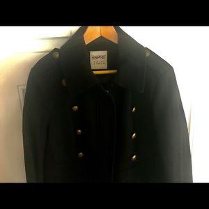 Brand New Women's Esprit Military Wool Coat